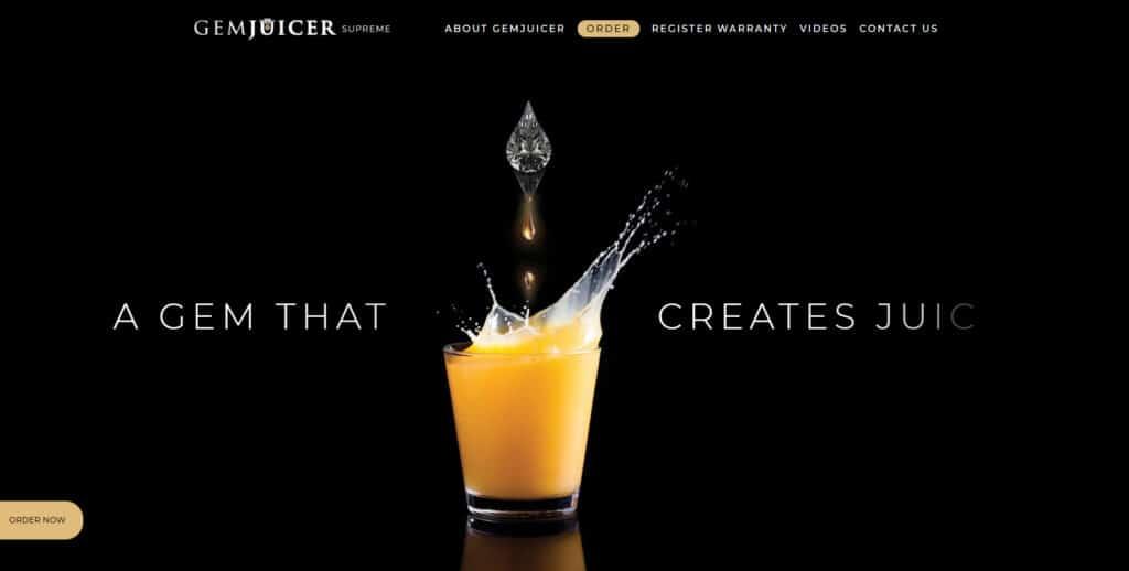 הקמת אתר נגלל למכירת מוצר עבור Gemjuicer